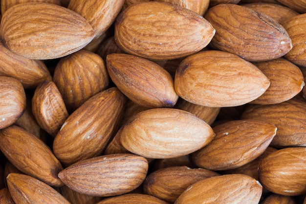 Macro details of natural almonds