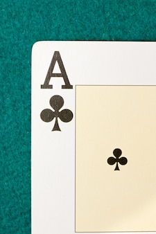 Macro of the letter from the ace of clubs