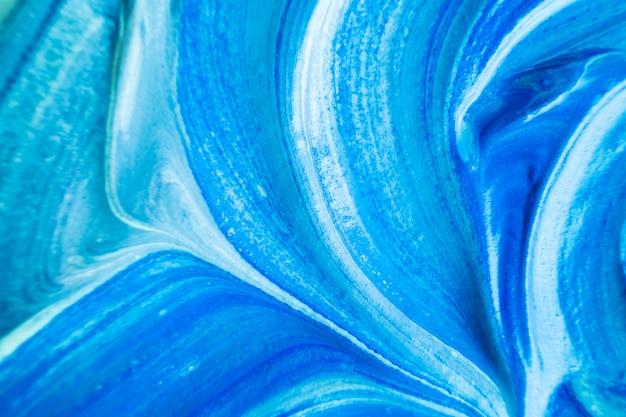 매크로 사진. 푸른 색조의 페인트를 닫습니다.