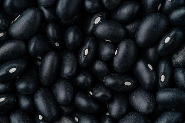 Macro shot of black beans pattern