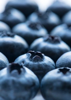 Macro shot of blueberry background