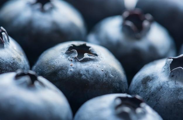 Macro shot of blueberry background