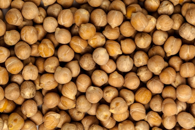 Macro shot of soybeans isolate on a
