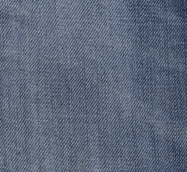Macro view of blue jeans fabric