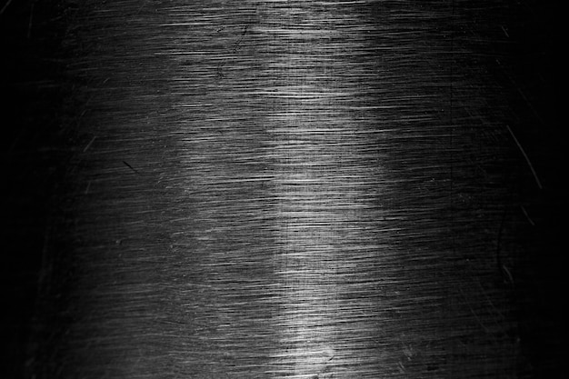 Macro view of silver scratches, metal texture
