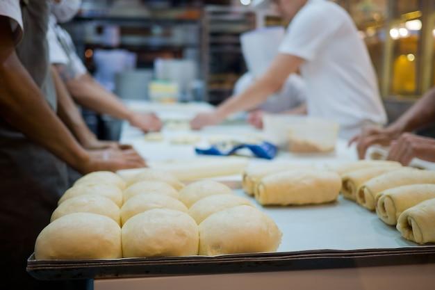 Made a bread, preparing bread