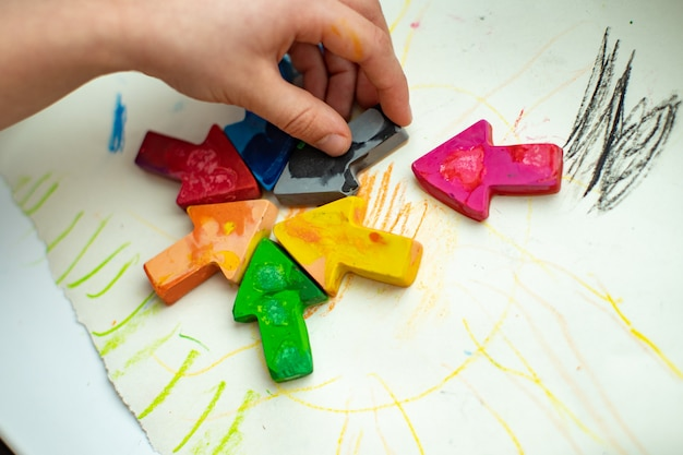Made homemade wax pencils from the wreckage of old crayons by melting