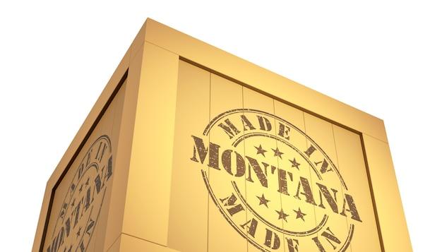 アメリカの地図でモンタナで作られました。 3dイラストレーション