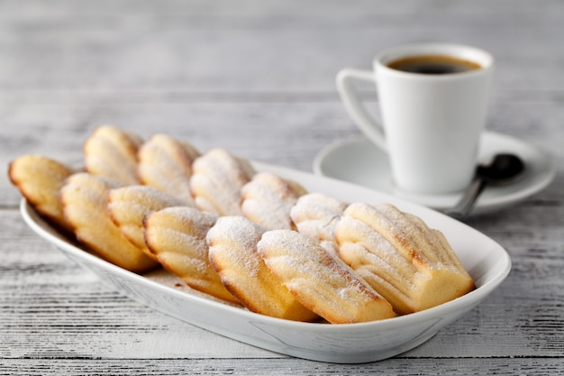 Madeleines with coffee