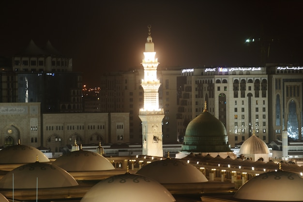 Madina mosque at night