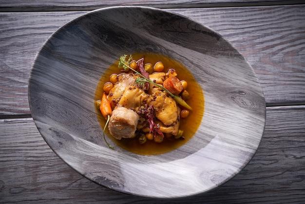 Madrid style modern callos tripe stew