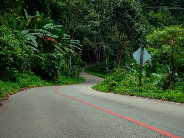 Mae kampong curve road village, chiang mai, thailand.