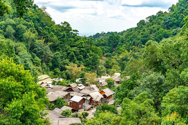 Mae kampong located in the mountains northeast of chiang mai