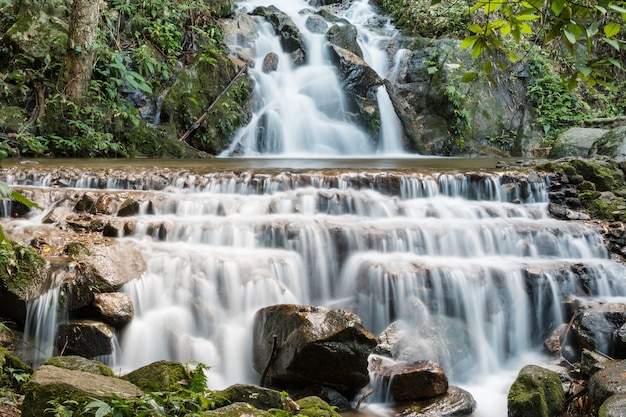 Mae kampong waterfall at chiangmai thailand