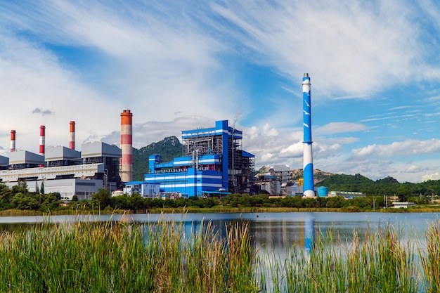 Шахта mae moh на угольной электростанции в таиланде