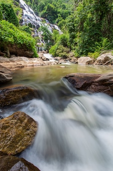 Mae ya waterfall is a beautiful waterfall in chiang mai province, thailand.