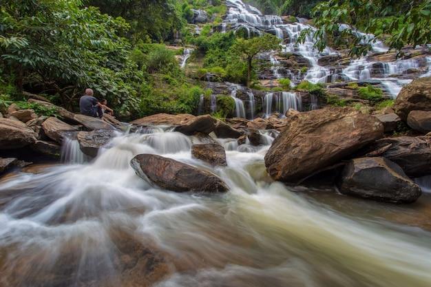 Mae ya waterfall is a beautiful waterfall in chiang mai province, thailand.