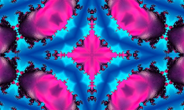 クロスのマゼンタのシームレスパターン。紫の万華鏡。