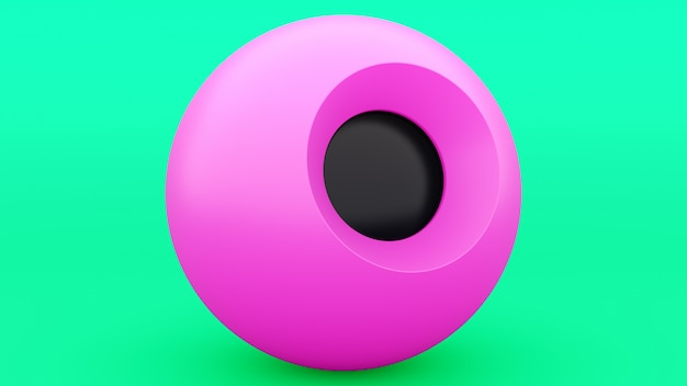 Magic 8 ball pink sphere, great design for any purposes. gray abstract. modern design element. decoration element. pearl transparent bubble. art design.