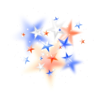Magic abstract background with whitered and blue blurred stars
