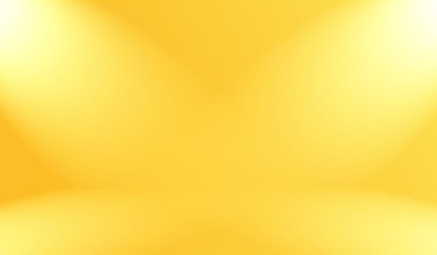 Волшебные абстрактные мягкие цвета сияющего желтого градиента студийного фона