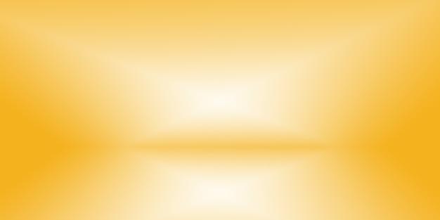 빛나는 노란색 그라데이션 스튜디오 배경의 마법의 추상 부드러운 색상.