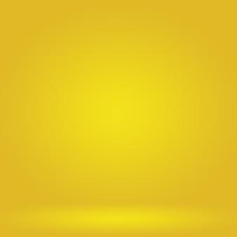 輝く黄色のグラデーションスタジオの背景の魔法の抽象的な柔らかな色