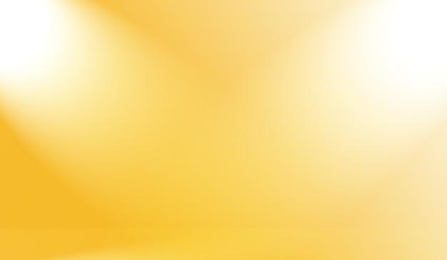 Волшебные абстрактные мягкие цвета сияющего желтого фона студии градиента.