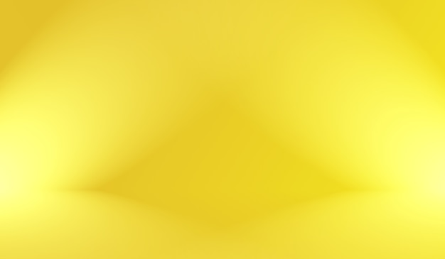 Magic abstract soft colors of shining yellow gradient studio background.
