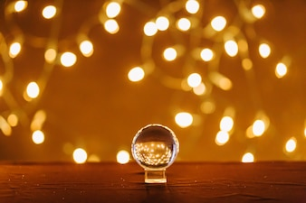 Magic ball and fairy lights