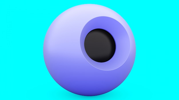 Magic ball blue sphere