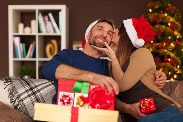 クリスマスの愛に満ちた魔法の時間