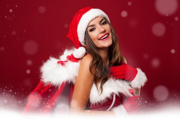 섹시 산타 여자와 마법의 시간