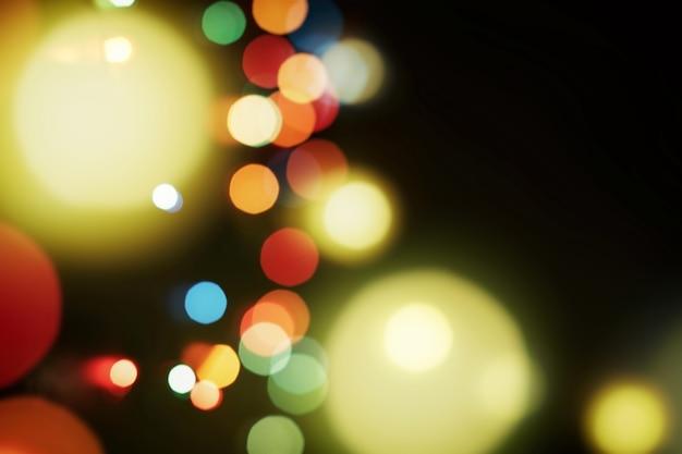 Волшебная зима во время рождества. рождественский праздничный фон. размытый новогодний фон, праздничный