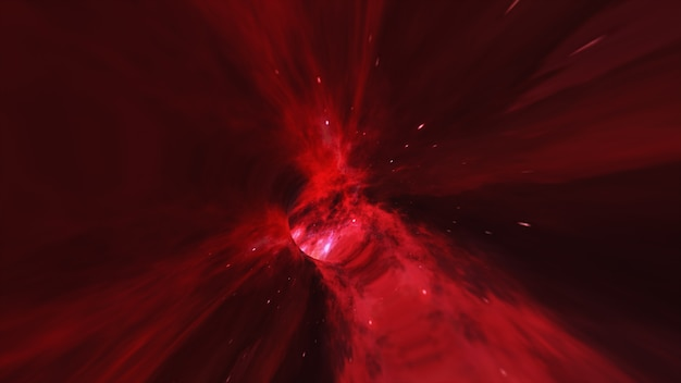 Magic wormhole - a twist in outer space flight into a black hole