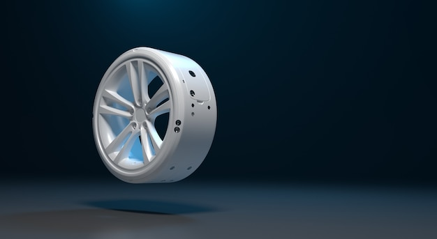 미래의 자기 전기 자동차 바퀴