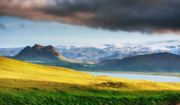 Magnificent iceland in the summer