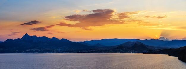 Magnificent panorama of sunrise