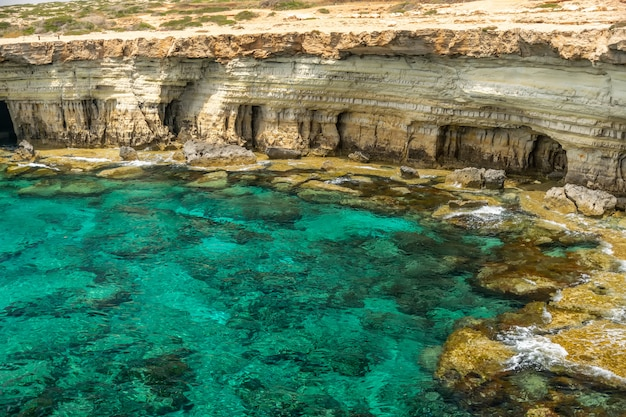 Magnificent sea caves are located on the east coast, near the city of ayia napa.