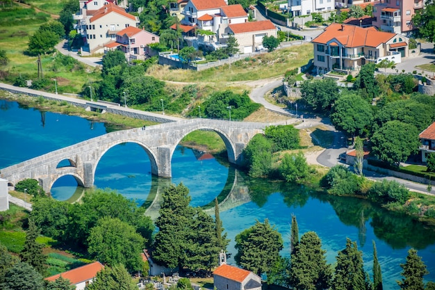 Magnificent view of trebinje from the height of the ancient temple