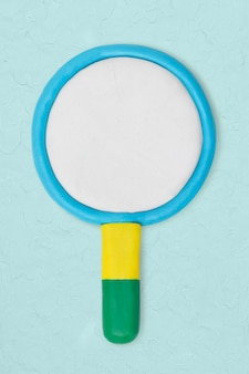 Увеличительное стекло глиняный значок милый ручной маркетинг креативное ремесло графика