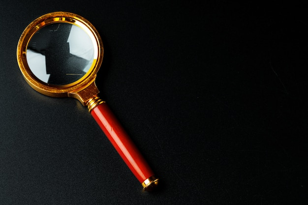 Magnifying glass close up