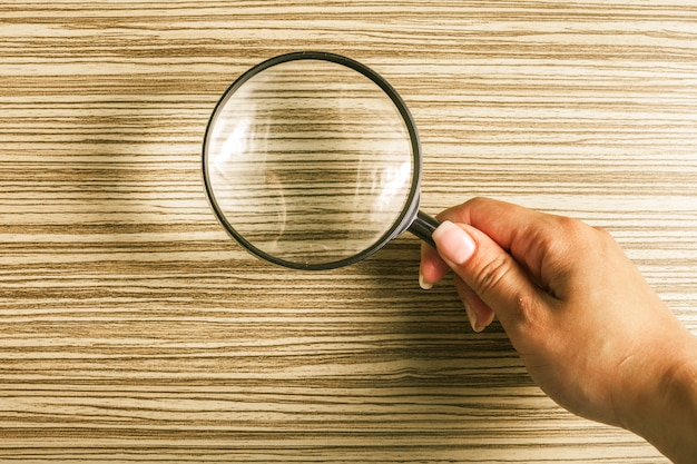 Magnifying glass or loupe