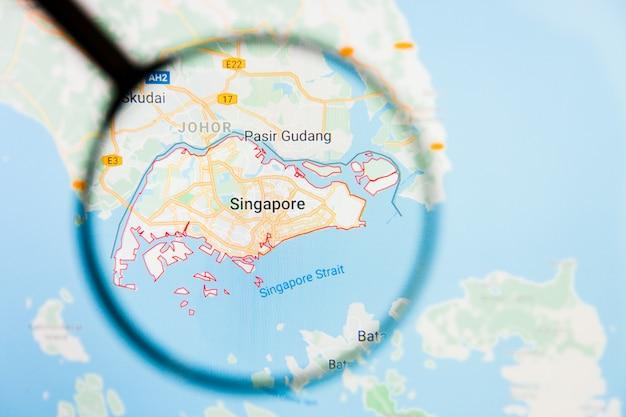 Лупа на карте азии