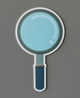 Magnifying glass search icon isolated