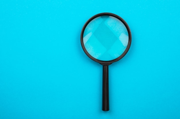 Magnifying glass. search tool.