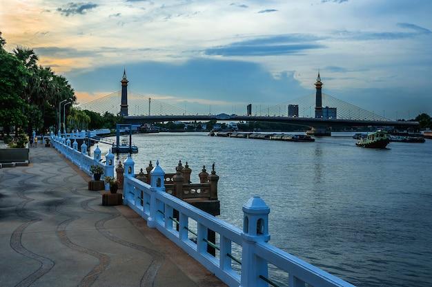 Maha jetsada bodin nusorn bridge in thailand.