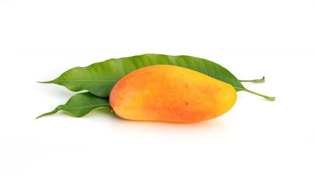 Mahachanok or rainbow mango on a white background.