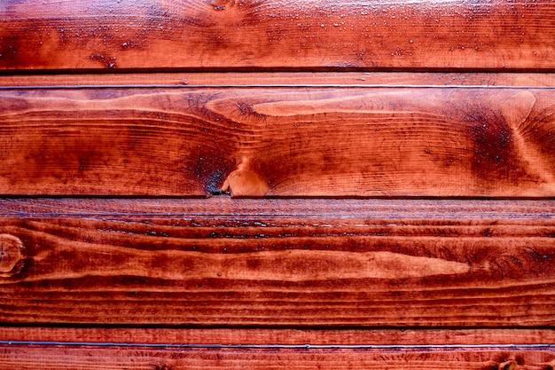 茶色の油を塗ったオークmahagonyテクスチャの装飾の準備ができて