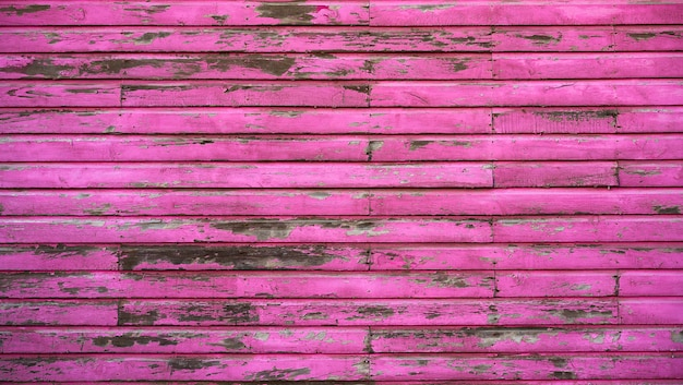 Mahahual caribbean pink wood painted wall